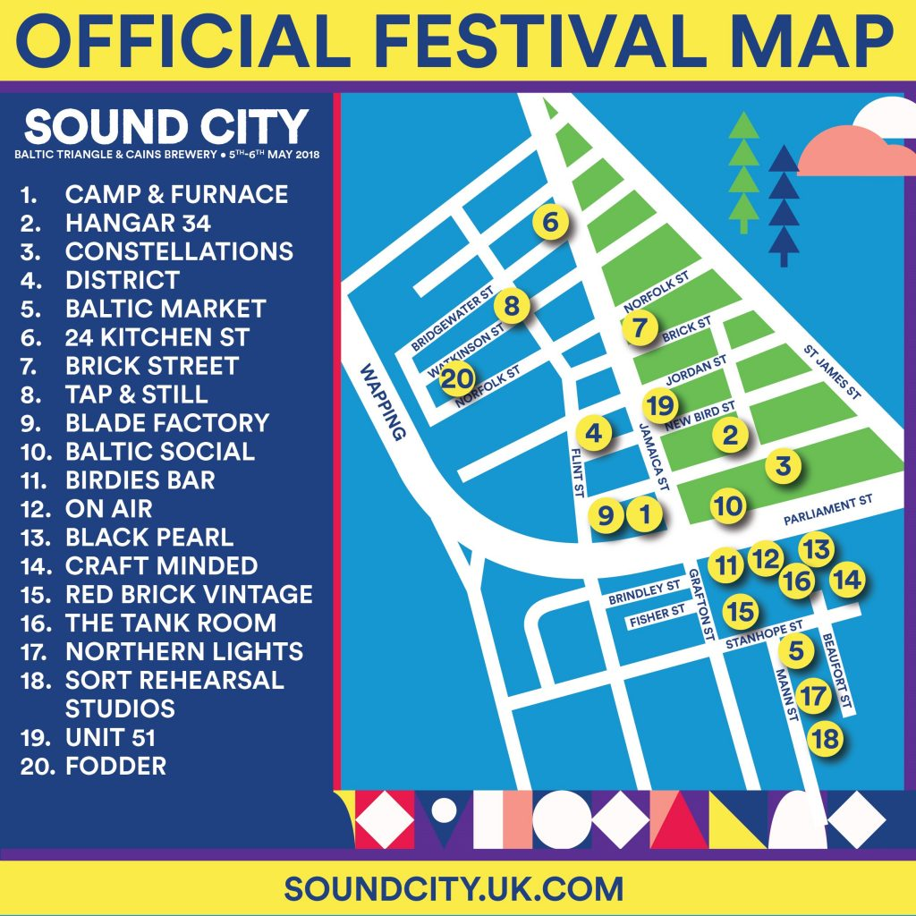 Liverpool Sound City 2018 Stage Map